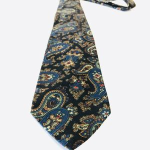 Polo Ralph Lauren Silk Dress Tie Green Retro Rare